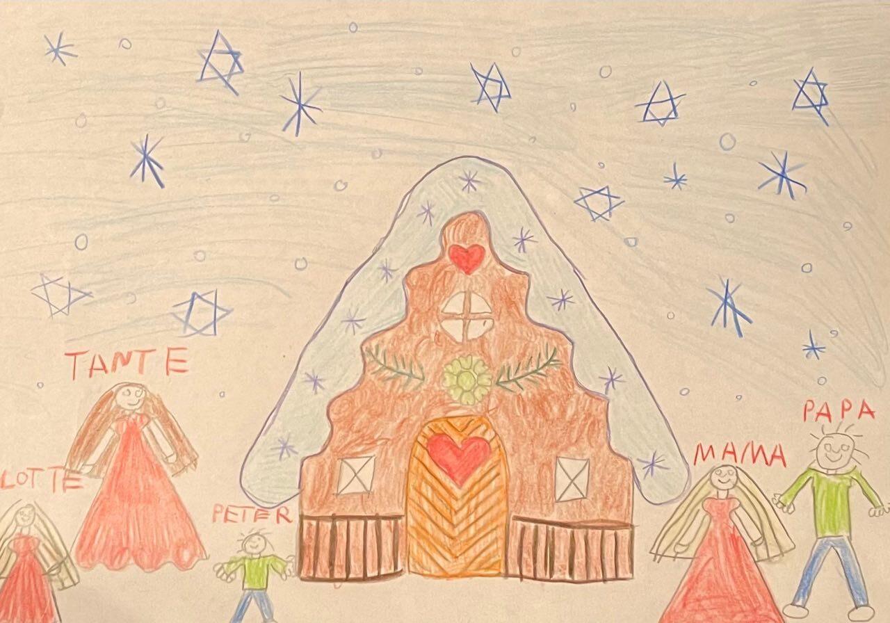 """Kunstwerk von Anouk, 5 Jahre alt zum Hörwerk """"Ach' du schöne Zuckerzeit"""""""